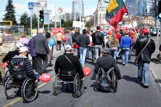 1 maja w Wilnie: marsz socjaldemokratów i związkowców