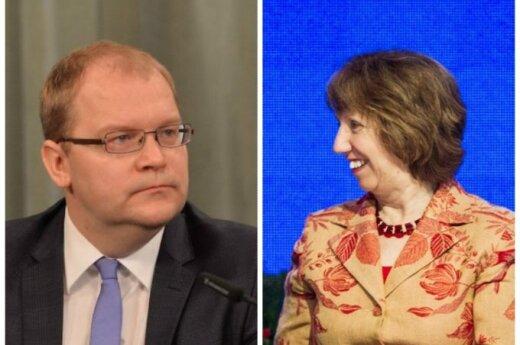 Urmas Paetas ir Catherine Ashton