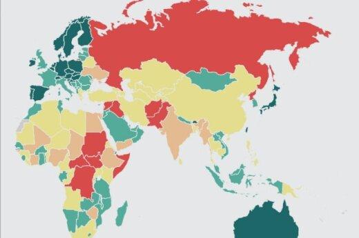 Światowy Wskaźnik Pokoju. Źródło: Institute of Economics and Peace