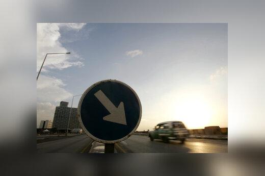Automobilis, eismas, gatvė, kelias, kelio ženklas