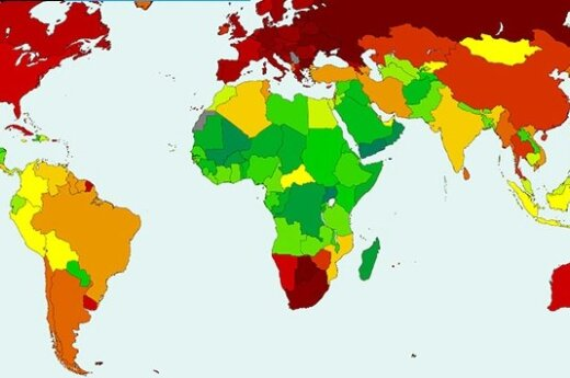Mapa urodzeń