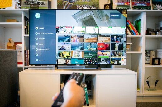 """DELFI TV bus matoma ir """"SONY Android TV"""" televizoriuose"""
