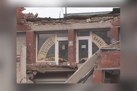 В Вильнюсе обрушилась часть магазина в Шяшкине