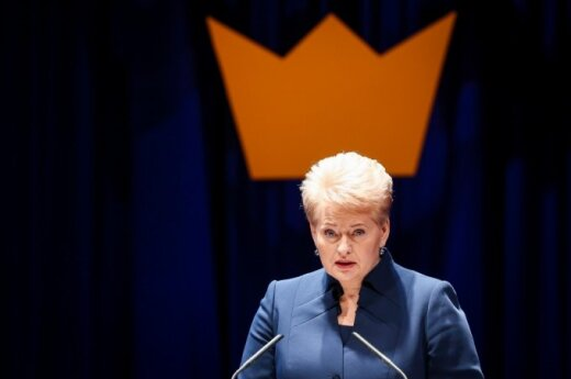 President Dalia Grybauskaitė at the Swedish Business Awards 2014