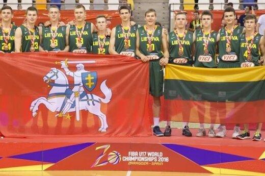 Lithuania's bronze-winning U17 basketball team