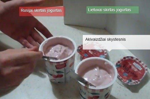 Eksperimentas su Rusijos ir Lietuvos rinkoms skirtais jogurtais