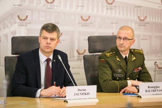 Darius Jauniškis and Remigijus Baltrėnas at the presentation