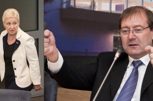 Irena Degutienė ir Viktoras Uspaskichas