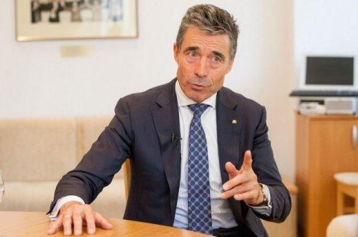 Расмуссен: НАТО прекращает сотрудничество с Россией