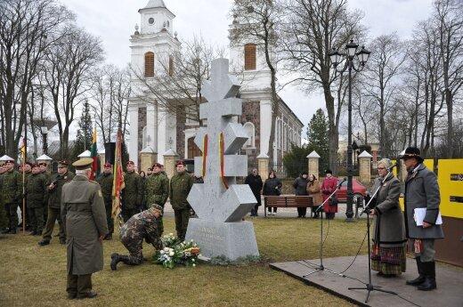В Лаздияй открыт памятник партизану Раманаускасу-Ванагасу