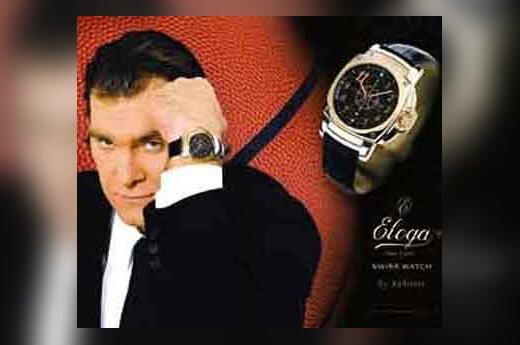 Arvydas Sabonis reklamuoja laikrodžius