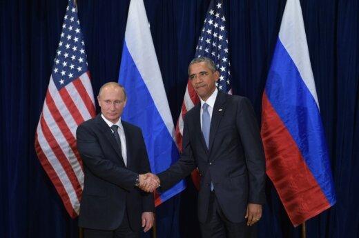 Barackas Obama susitinka su Vladimiru Putinu