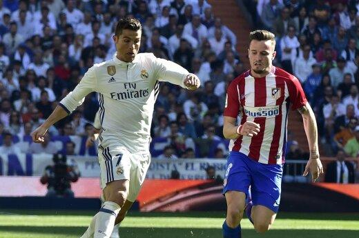 Cristiano Ronaldo ir Saulis Nunezas