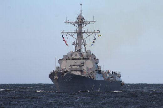 USS Jason Dunham arrives in Lithuania