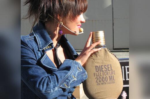 """""""Diesel"""" kvepalų """"Fuel for life"""" pristatymas"""