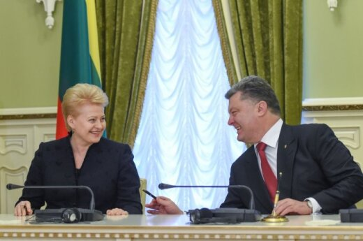 Dalia Grybauskaitė and Petro Poroshenko