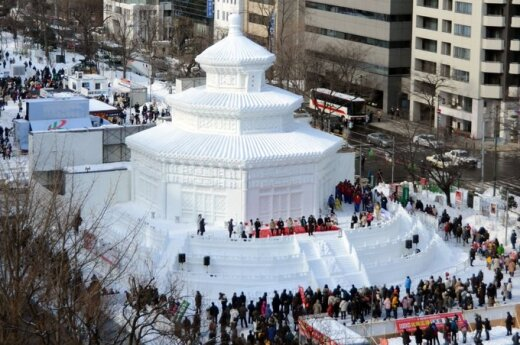 В Японии - зимний фестиваль