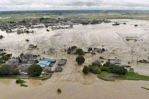 В Японии ищут пропавших во время наводнения