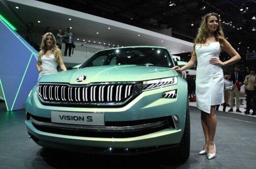 """""""Škoda VisionS"""" prototipas Ženevos parodoje"""