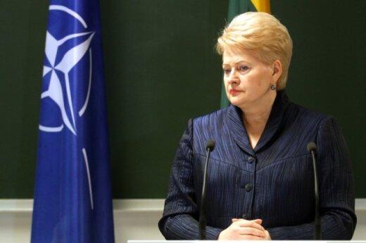 D. Grybauskaitė: Lietuvai teks prisiimti atsakomybę