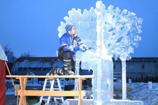 Jelgavoje prasidėjo ledo skulptūrų festivalis