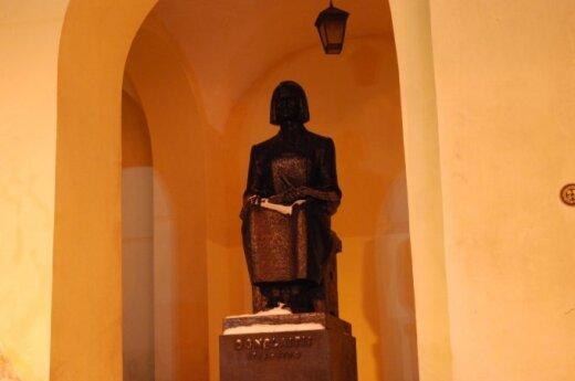 Kristijonas Donelaitis monument at Vilnius University