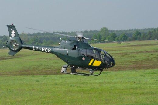 Lądowisko dla helikopterów w centrum Wilna