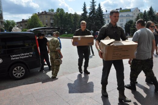 Lithuanians actively donate humanitarian aid to Ukraine