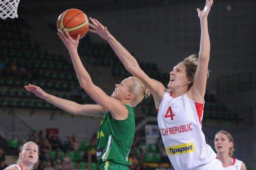 Lietuvos komandoje rezultatyviausiai žaidė Aušra Bimbaitė