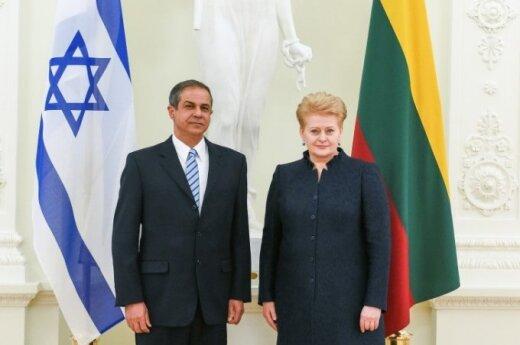 Presentation of credentials by Israeli Ambassador Amir Maimon. Official photos by Robertas Dačkus