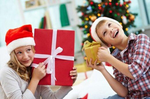 Kalėdos, dovanos, šventė, vaikai, berniukas, mergaitė, vaikas