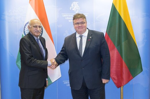 Indian Minister Mobashar Jawed Akbar in Vilnius