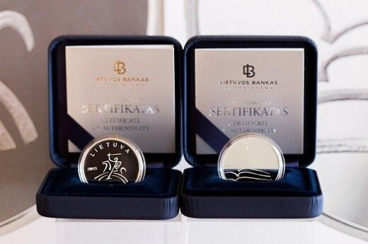 Collector coin dedicated to literature. Photo T. Lukšys, BFL
