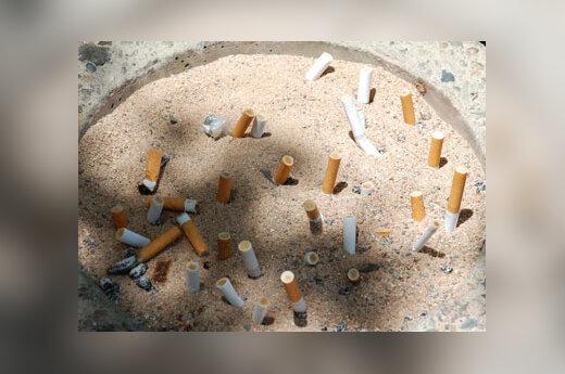 Cigaretės, nuorūkos, rūkymas