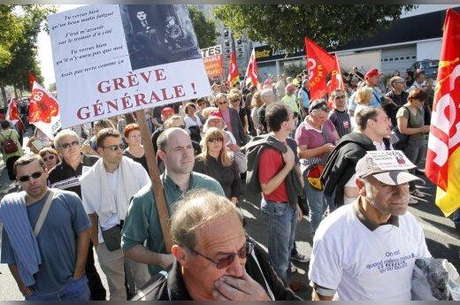 Во Франции прошли крупные акции протеста