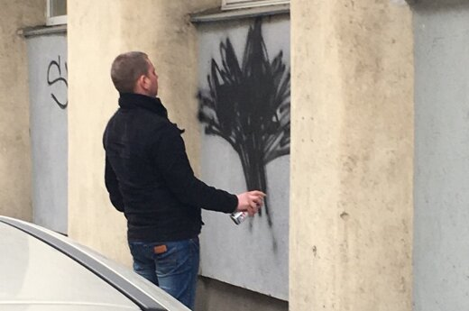 """В Вильнюсе задержали """"художника"""", разрисовавшего дом в Старом городе"""