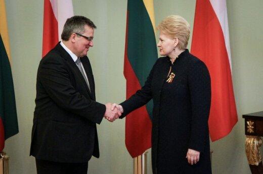 Bronislawas Komorowskis ir Dalia Grybauskaitė