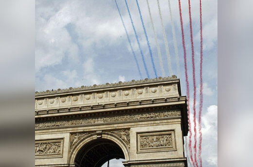 Triumfo arka, Prancūzijos vėliava