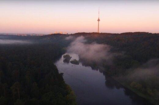 Magiškas Vilnius: kaip atrodo sostinės diena iš paukščio skrydžio