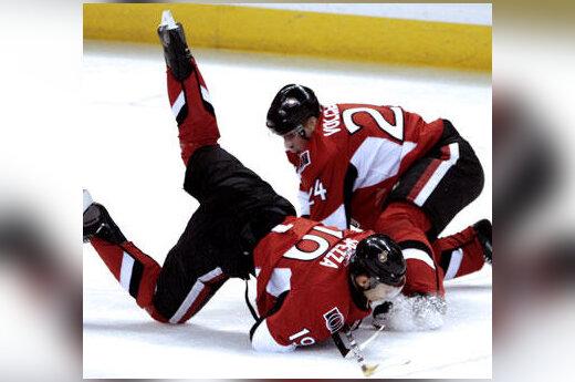 NHL rungtynių momentas