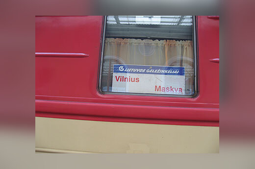 """Traukinys, Vilnius-Maskva, """"Lietuvos geležinkeliai"""""""