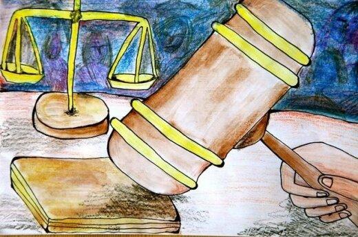"""Konkurso """"Teismai gina žmones"""" dalyvio piešinys"""