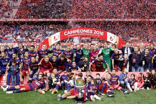 """Barcelona"" futbolininkai iškovojo Ispanijos taurę"