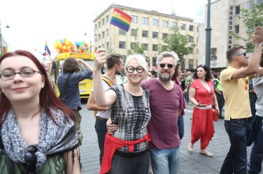 At the Baltic Pride in Vilnius