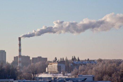 """Bendrovės """"Vilniaus energija"""" kaminas sostinėje"""