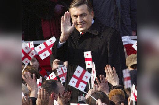 Michailas Saakašvilis inauguracijos metu
