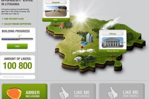 """Lietuvoje ketinama statyti didžiausią pasaulyje """"Like'ą"""""""