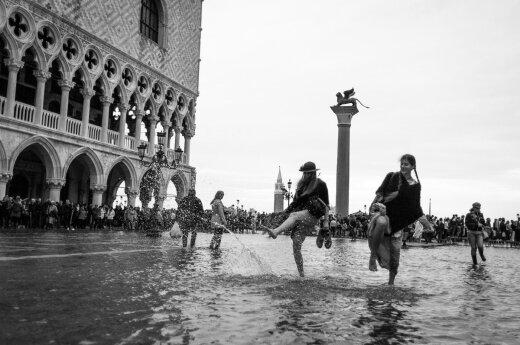 Išskirtinės Venecijos nuotraukos potvynio metu