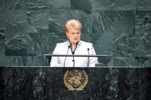President Grybauskaitė at UN General Assembly: Silent consent to aggression does not help global stability