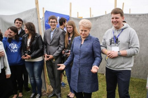 Dalia Grybauskaitė at World Lithuanian Youth Meeting